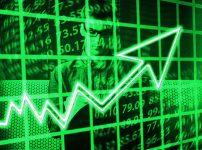 株爆上げの矢印